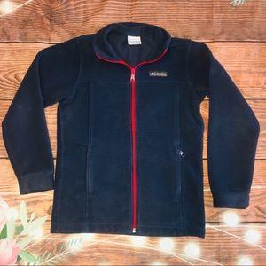 Youth Columbia fleece full zip jacket Medium 10/12